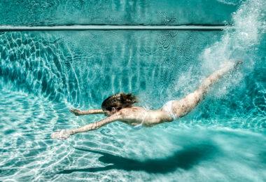 Eau de piscine propre